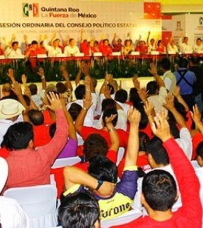 DEFINIRÁN PRIISTAS 'MÉTODO' PARA ELEGIR CANDIDATOS: Convocan para hoy sábado a sesión extraordinaria al Consejo Político en QR