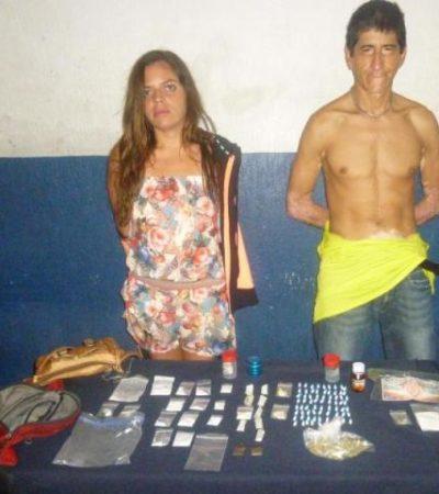 CARGADOS PARA LA 'FIESTA': Detienen en Playa a pareja de defeños con LSD, 'tachas', cocaína, crack y marihuana