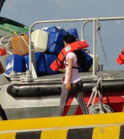 Rescata crucero a 17 balseros cubanos en altamar; los entregan en Cozumel