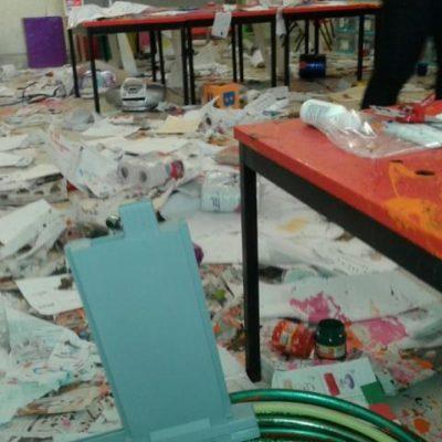 Vandalizan kinder en Villas del Mar III en Cancún