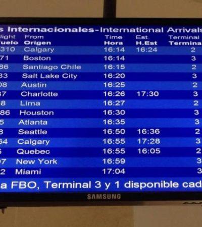 Por tormenta de nieve en la costa este de EU, cancelan 15 vuelos a y desde Cancún