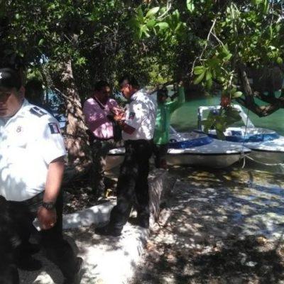 Dos turistas heridas al chocar lancha contra base del puente Nizuc en Cancún