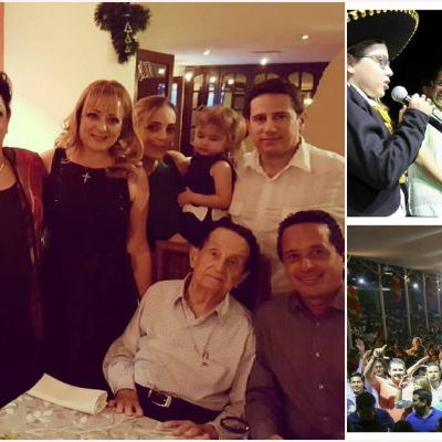 ARROPA FAMILIA JOAQUÍN A CARLOS: En la recta final de la definición del candidato priista, el aún funcionario federal festeja en Cozumel
