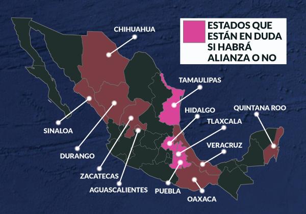 DESCARTAN ALIANZA PAN-PRD EN QR: Negocian dirigencias ir juntos en Zacatecas, Durango, Oaxaca y Veracruz y quizá otros 4 estados, pero no aquí