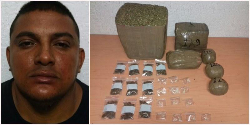 Capturan a narcomenudista de 'Los Pelones' con 5 kilos de marihuana en Cancún