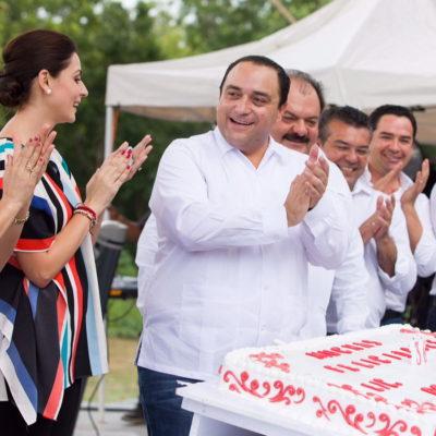 ES BORGE EL 'SEÑOR DE LAS FIESTAS': A días de definirse el candidato, acumula Gobernador 9 megafestejos en 2 semanas por 'cumple' y roscas