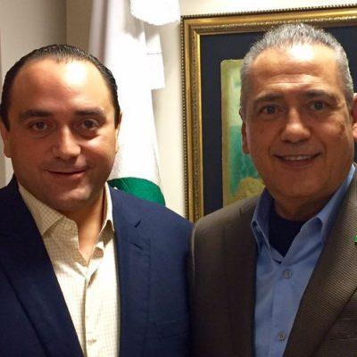 PRESUME BORGE 'UNIDAD' DEL PRI: A días de la designación del candidato en QR, se reúne con Manlio Fabio para cacarear que ganarían con cualquiera