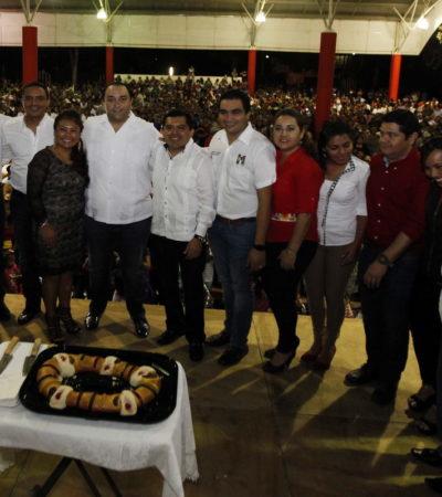 Con 'Chanito' Toledo y Raymundo King, Borge parte la rosca en Tulum