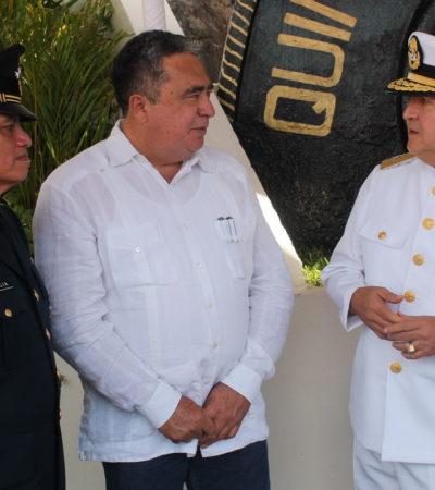 RELEVO EN LA MARINA: Atestigua Mendicuti cambio de mando en la Quinta Región Naval Militar