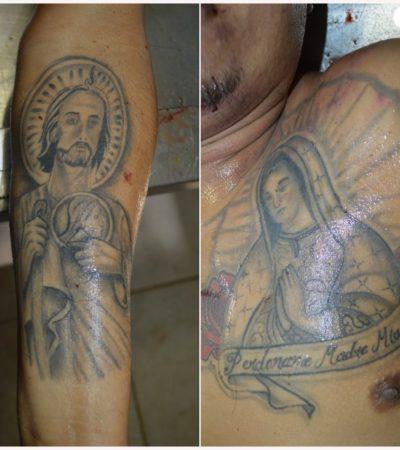 Por sus tatuajes, tratan de identificar a sujeto asesinado en la Región 70 de Cancún