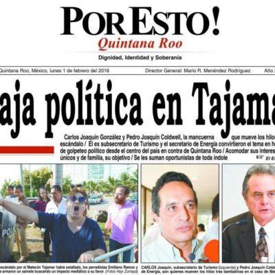 Asegura diario Por Esto! de QR que el conflicto en Tajamar es 'golpeteo político' y culpa a Pedro y Carlos Joaquín