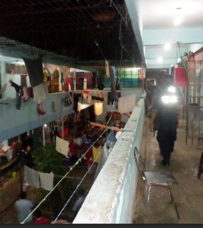 Incautan artefactos y sustancias prohibidas en cateo en el Cereso de Chetumal