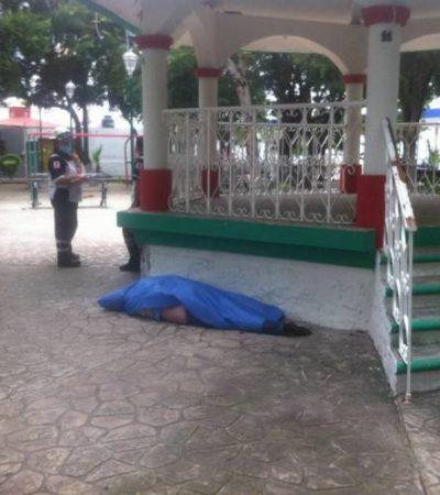 Encuentran a hombre muerto en el parque del Bohemio en Cancún