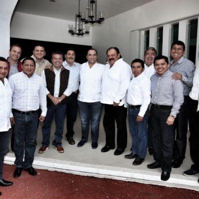 """ENFRENTA BORGE """"NUEVA COYUNTURA"""": Tras ruptura del PRI por salida de Carlos Joaquín, alcaldes priistas 'cierran filas' en torno al Gobernador"""