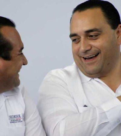 """""""SÍ, YO VOY, VOY"""": Sin méritos propios más que ser cercano a Borge, Fabián Vallado se promociona desde la Sedesol para ser candidato de Puerto Morelos"""