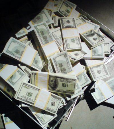 Detienen en el AICM a 3 colombianos con más de un millón y medio de dólares