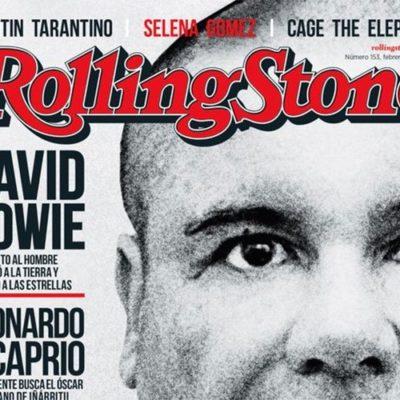 MÁS QUE MÚSICA, ¡A VENDER NOTA ROJA!: Toma 'El Chapo' por 'asalto' la portada de la revista 'Rolling Stone' y le llueven críticas