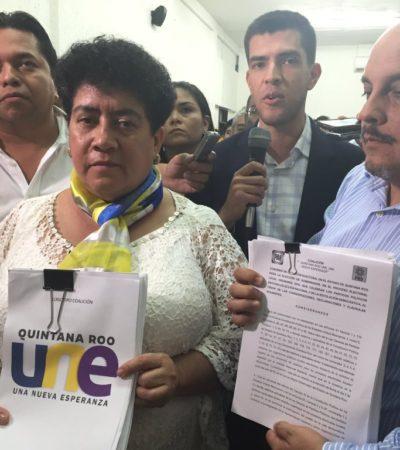 Rompeolas: Formación 4-4-3 en la coalición UNE para los municipios
