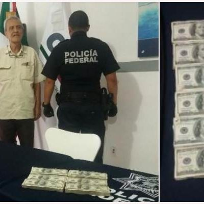 SIGUE EL TRÁFICO DE DÓLARES EN EL AEROPUERTO: Detienen en Cancún a otro colombiano que quiso pasar ocultos casi 200 mil dólares