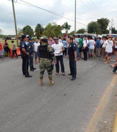 """MALESTAR ¿DE """"FAYUQUEROS'? EN LA FRONTERA: Bloquean carretera en Subteniente López para exigir el retiro de un retén militar"""