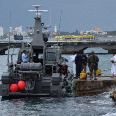 Rescata crucero en altamar a otros 16 balseros cubanos y los entrega al INM en Cozumel