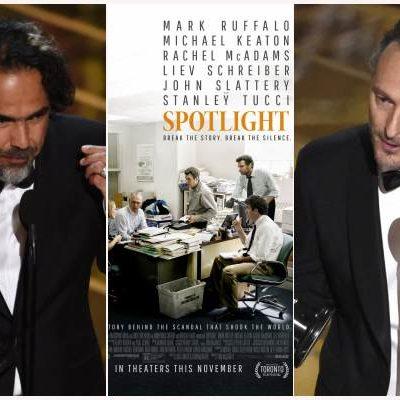 """""""LOS OSCAR MÁS GRUÑONES"""": Gana 'Spotlight' como Mejor Película a 'The Revenant', pero triunfan los mexicanos Iñárritu y Lubezky junto a DiCaprio"""