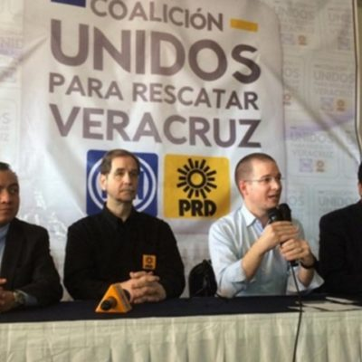 """""""UNIDOS PARA RESCATAR VERACRUZ"""": Registran alianza PAN-PRD para quitarle el gobierno a Duarte y al PRI"""