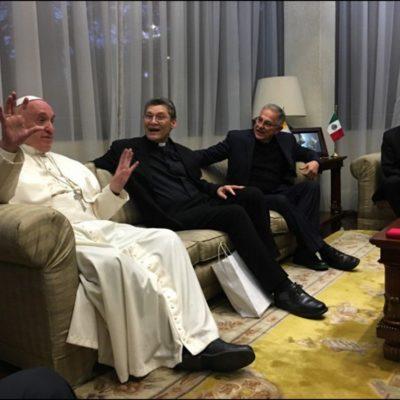 Se reúne el Papa Francisco en privado con un grupo de jesuitas en la Nunciatura Apostólica