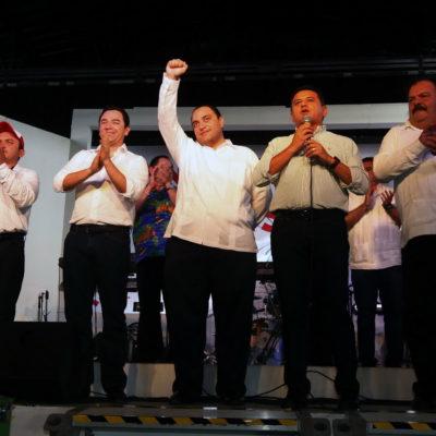 En la víspera de la designación del candidato del PRI, placea Borge a 'Chanito' en Cozumel