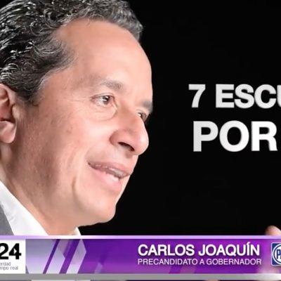 VIDEO A 'FUERCITA' PARA QR: 'Madruga' Carlos Joaquín a sus rivales con campaña publicitaria en Youtube
