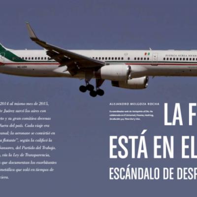 'LA FIESTA ESTÁ EN EL AIRE': Ventilan escándalo de despilfarros de Peña Nieto en el avión presidencial; gastan más de 7 mdp en comidas y bebidas entre 2014 y 2015