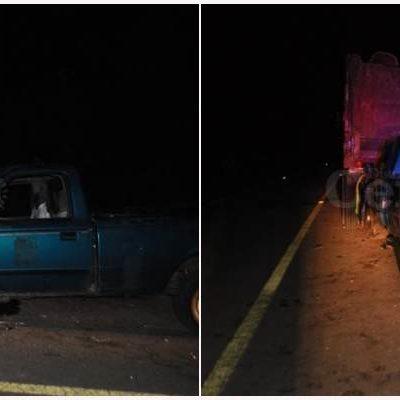 FATAL ACCIDENTE CARRETERO EN JUEVES SANTO: Camioneta se estrella contra volquete en FCP con saldo de un muerto y un herido