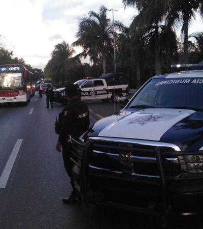 REPORTAN BALEADO EN ZONA HOTELERA DE CANCÚN: En plena temporada de 'springbreakers', despliegan operativo por violencia