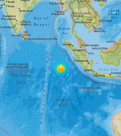 TERREMOTO SACUDE INDONESIA: Emiten alerta de tsunami tras el sismo de 7.9 grados Richter con epicentro al sudeste de Sumatra