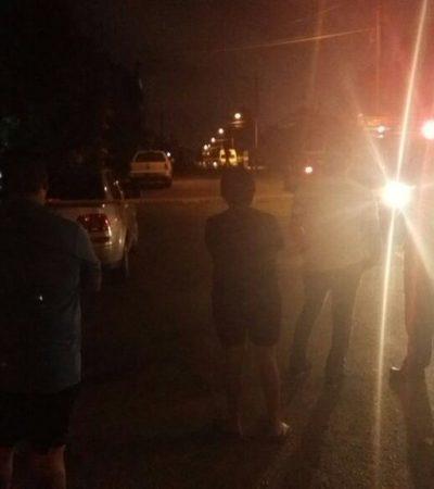 BALEAN A UN HOMBRE EN CANCÚN: Reportan otro tiroteo en la Región 221 y montan operativo, pero presuntos sicarios huyen en motocicleta