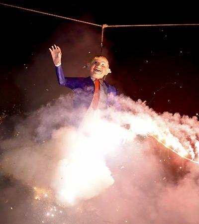 ¡TODOS QUIEREN A DONALD TRUMP!: …pero para quemarlo como el nuevo Judas de México