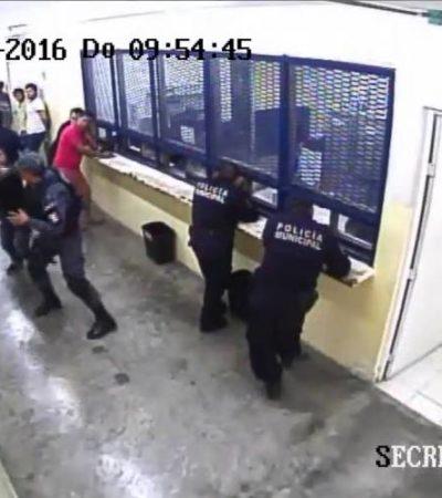 PERO NO PASA NADA EN 'EL TORITO': Detenido le arrebate arma a elemento de la Gendarmería en Cancún y le apunta