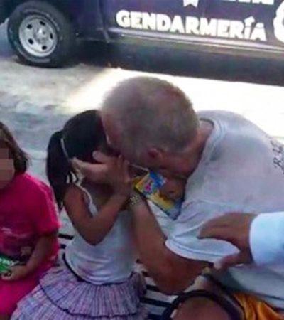 Detienen a un canadiense por besar y tocar a dos niñas de tres años