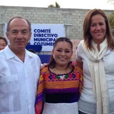 Apadrinan Felipe Calderón y Margarita Zavala la candidatura de Perla Tun a la Alcaldía de Cozumel; Adriana Tessier va por diputación