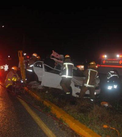 TRAGEDIA DE TURISTAS EN LA CARRETERA: Muere pareja de extranjeros en aparatoso accidente en la vía Playa-Puerto Morelos