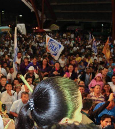 """ES MAURICIO """"MÁS DE LO MISMO"""": En Chetumal, truena Carlos Joaquín contra el candidato del PRI que representa al grupo que ha """"malgobernado' QR"""