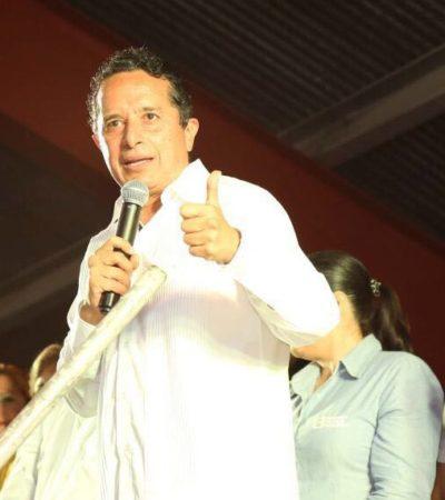 """EL MIEDO NO ANDA EN BURRO: Impugnan PRI-PVEM-Panal la alianza PRD-PAN para tratar de frenar a Carlos Joaquín; """"recurren a la trampa"""", acusan"""