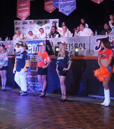 SE ALISTAN TIGRES PARA PRIMER ZARPAZO: Presentan en Cancún los nuevos uniformes del equipo campeón de la Liga Mexicana de Beisbol
