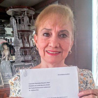 """OTRA RENUNCIA AL PRI: Galardonada ex diputada Martha Silva Martínez sale del tricolor porque """"ya no es democrático ni representa la justicia social""""; apoya a Carlos Joaquín"""