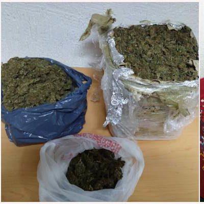 Por transitar con exceso de velocidad, caen 2 narcomenudistas de 'Los Pelones' con 4.6 kilos de marihuana
