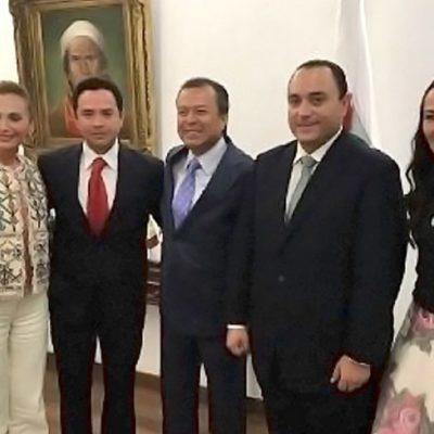 En la víspera de la designación del candidato del PRI en QR, Borge se reúne con diputados federales