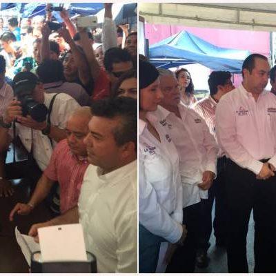 CARLOS Y MAURICIO, EN LA LÍNEA DE ARRANQUE: Se registran ante el Ieqroo los 2 abanderados de las coaliciones por QR y 3 'candidatos relleno'