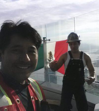 """""""¿QUIÉN DIJO QUE NO SE PUEDE?"""": Dos obreros, un chiapaneco y un cancunense, le dan un golpe viral a Donald Trump"""
