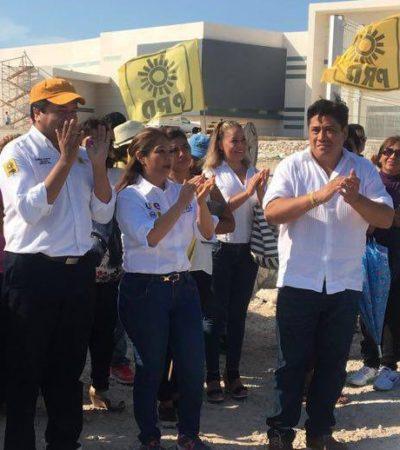 Inicia Gicela Alvarez campaña en hospital inacabado en Villas del Mar para denunciar el abandono del sector salud; va por el Distrito III