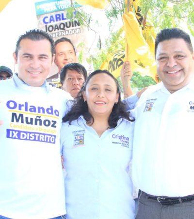 VA ORLANDO POR EL VOTO DEL DISTRITO IX: A 42 años de malos gobiernos, Quintana Roo se merece un cambio, dice el candidato de la alianza PRD-PAN